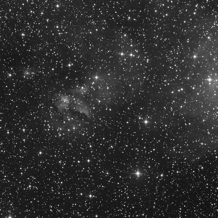 IC 2872 in Black and White